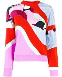 Emilio Pucci Contrast Panels Jumper - Pink