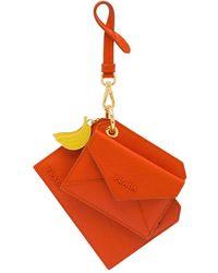 Prada Keychain Trick With Bananas Charm - Orange
