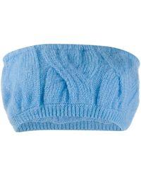 Greta Boldini Cable Knit Bandeau - Blue