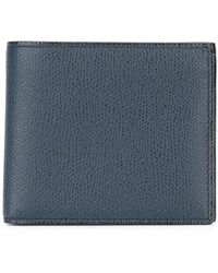 Valextra Cartera billetera texturizada - Azul