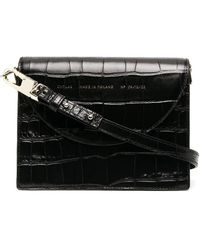 Chylak Crocodile Effect Tote Bag - Black
