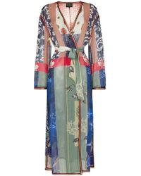 Etro Giacca oversize con cintura - Blu