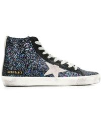 Golden Goose Deluxe Brand Francy Glittered Trainers - Black