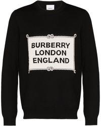 Burberry Trentley ロゴ セーター - ブラック