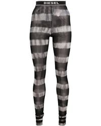 DIESEL Sheer Striped Tights - Black