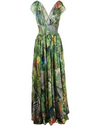 Dolce & Gabbana Maxi-jurk Met Print - Groen