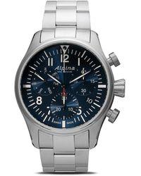 Alpina Наручные Часы Startimer Pilot Chronograph Quartz 42 Мм - Синий