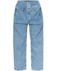 60a3042ec2c Lyst - Christopher Shannon Double Width Jeans in Gray for Men