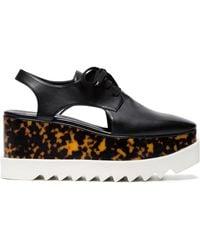 Stella McCartney - Black Elyse 75 Cutout Flatform Shoes - Lyst