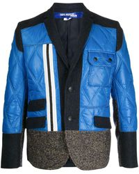 Junya Watanabe パネル シングルジャケット - ブルー
