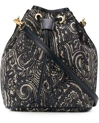 Etro Paisley Embroidered Bucket Bag - Multicolor