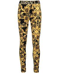 Versace Jeans Couture Легинсы С Принтом - Металлик