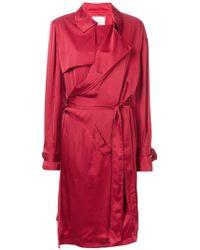 A.F.Vandevorst Vestido estilo gabardina - Rojo