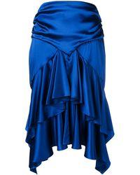 Alexandre Vauthier ラッフル スカート - ブルー