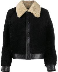 AMI コントラストカラー ジャケット - ブラック