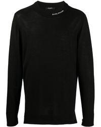 Balmain ロゴディテール セーター - ブラック