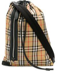 Burberry - Haymarket Print Cross Body Bag - Lyst