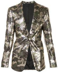 R13 Sequined Camouflage Blazer - Metallic