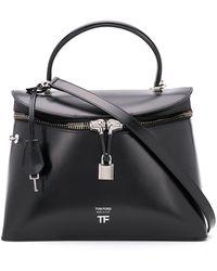 Tom Ford Handtasche mit Vorhängeschloss - Schwarz