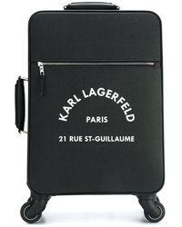 Karl Lagerfeld Valise à roulettes à logo - Noir