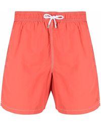 Hackett Contrast-stitching Swim Shorts - Orange
