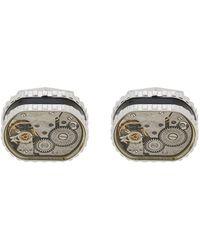 Tateossian Manschettenknöpfe mit Uhrwerk - Mettallic