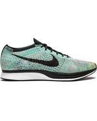 Nike Flyknit Racer Trainers - Green