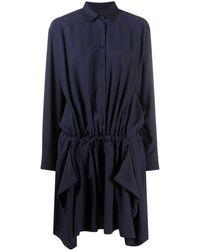 KENZO - ラッフル シャツドレス - Lyst