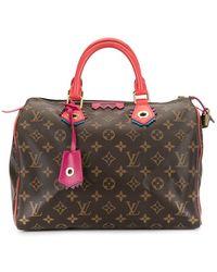 Louis Vuitton Pre-owned Speedy 30 Flamingo Handtasche - Braun