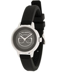 Karl Lagerfeld Ikonik Choupette Watch - Black