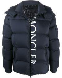 Moncler Куртка На Пуху Из Нейлона - Синий