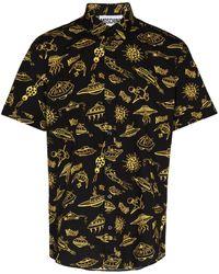 Moschino Рубашка С Короткими Рукавами И Принтом - Черный