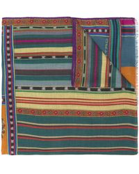 Etro - Cashmere Blend Patterned Scarf - Lyst