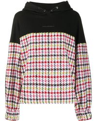 Karl Lagerfeld Oversized Bouclé-panel Hoodie - Black