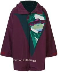 Undercover X Valentino Hooded Parka - Purple