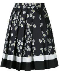 Macgraw Daisy Chain Silk Short Skirt - Black