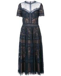 Tadashi Shoji - Lace midi dress - Lyst