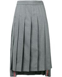 Thom Browne School Uniform Pleated Skirt - Gris
