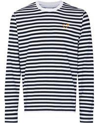 adidas ストライプ Tシャツ - ホワイト