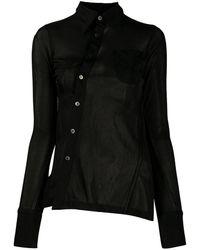 Ambush Asymmetric Sheer Shirt - Black