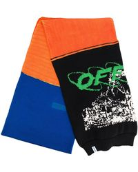 Off-White c/o Virgil Abloh Logo Knitted Scarf - Orange