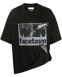 Facetasm オーバーサイズ ロゴ Tシャツ - ブラック