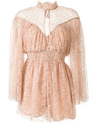 Alice McCALL Lotus Playsuit - Brown