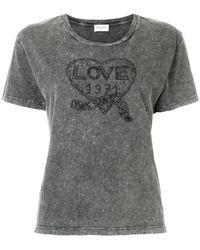 Saint Laurent - Love Logo Patch T-shirt - Lyst