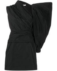 Givenchy Короткое Платье Асимметричного Кроя - Черный