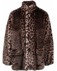 Needles Abrigo con estampado de leopardo - Marrón