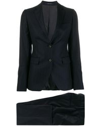 Tagliatore Two-piece Pinstripe Formal Suit - Blue