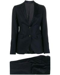 Tagliatore ピンストライプ ツーピース スーツ - ブラック