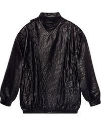 Gucci Oversized Leren Jack - Zwart
