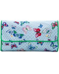 Hermès 1990s Pre-owned Maxi Butterfly Clutch - Blue